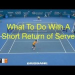 Tennis Singles Strategy – How To Handle The Short Return of Serve