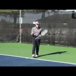 Tennis Topspin Backhand Drive