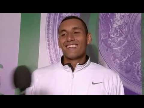 Nick Kyrgios post-match interview – Wimbledon 2014