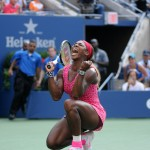 2014 US Open FINAL Serena Williams vs Caroline Wozniacki Amazing Point