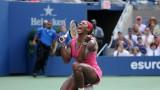2014 US Open FINAL Serena Williams vs Caroline Wozniacki Amazing Point