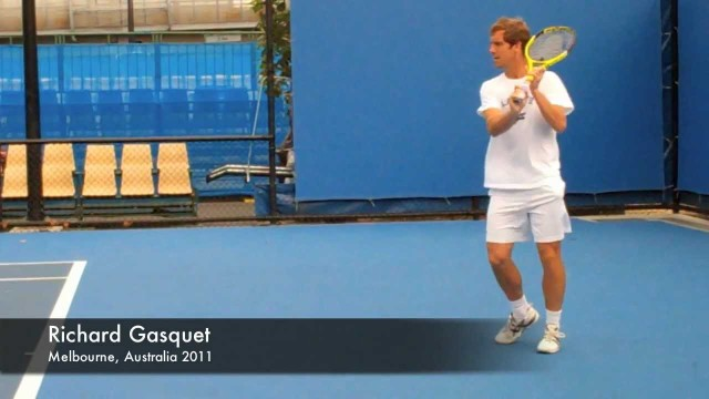 Richard Gasquet – Slow Motion Top Spin Backhands in HD