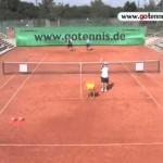 Tennis Training: Practice your forhand topspin and backhand slice