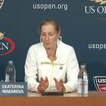 Ekaterina Makarova vs Serena Williams US Open Semi Final Makarova Press Conference