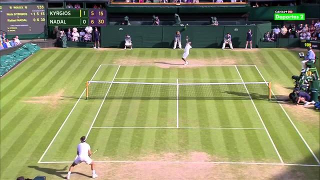 Kyrgios vs. Nadal – Wimbledon R4 2014 (HD)