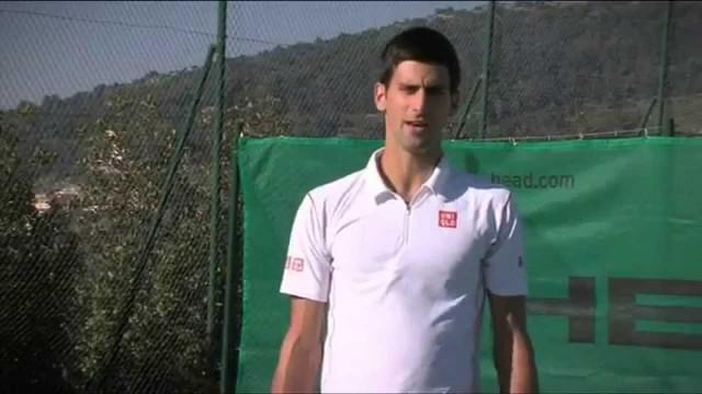 Novak Djokovic Tennis Lesson