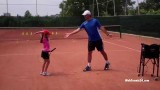 Slice serve – tennis technique lesson (kids tennis)