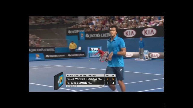 Australian Open Tennis Championships 2014 Highlights | Jo-Wilfried Tsonga and Gilles Simon