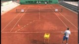 tennis group drill for basic strokes: backhand drive – backhand topspin