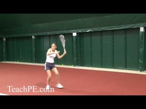 Tennis Drill – The Top Spin Lob – Forehand