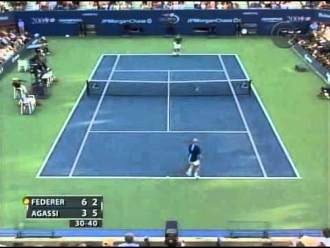 Us Open 2005.R.Federer vs A.Agassi.Highlights