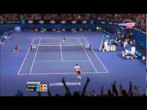 Stanislas Wawrinka match point vs Novak Djokovic 2014 Australian Open 21/01/2014