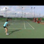 Tennis training/hitting @ Sanchez Casal Academy