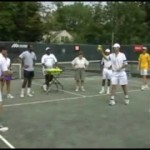 Coaching Groups – How to learn a topspin one-handed backhand – Group Tennis Activities