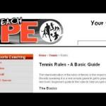 Basic Rules For Beginner's Tennis