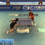 Table tennis   2014 Philippines Open SAMBE Kohei vs JIMENEZ Mark Francis