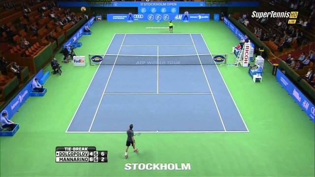 Alexandr Dolgopolov vs Adrian Mannarino ATP 2014 Stockholm Highlights [HD]