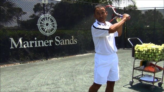 How to put a top spin on your forehand and backhand tennis training video