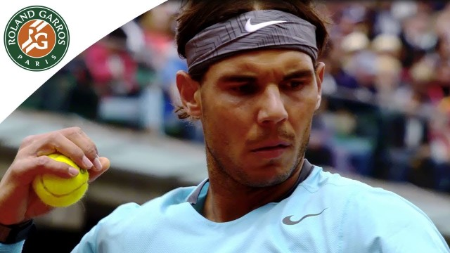 2014 French Open .Rafael Nadal's road to the Final