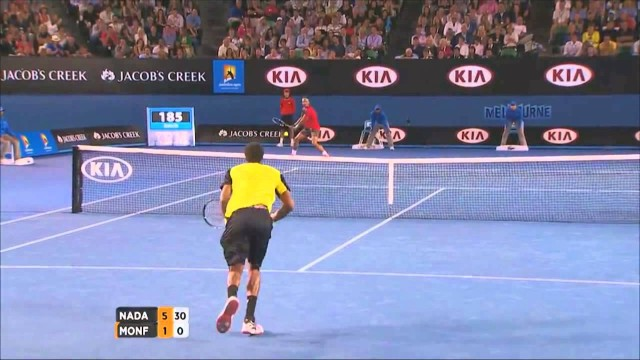 Australian Open Tennis Championships 2014 Highlights | Rafael Nadal and Gael Monfils