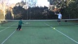 Kids tennis lesson – forehand volley
