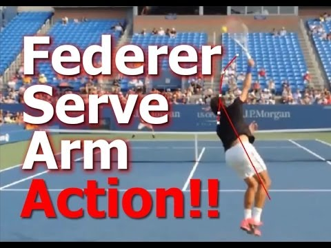 Tennis Serve Lesson – Roger Federer Arm Action (Top Speed Tennis)