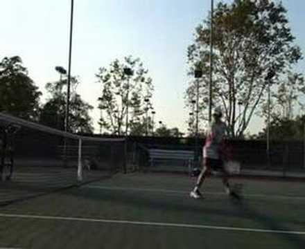Backhand Topspin Tennis Drill