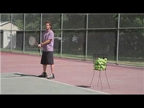 Tennis Tips : Topspin Backhand Tennis Serve Returns