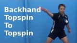 Backhand Topspin to Topspin | Table Tennis | PingSkills
