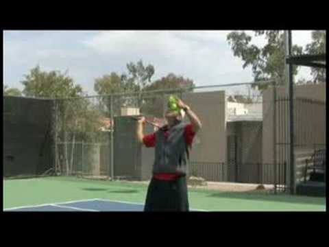 Tennis Serve & Return Tips : Tennis Slice Serve from Service Line