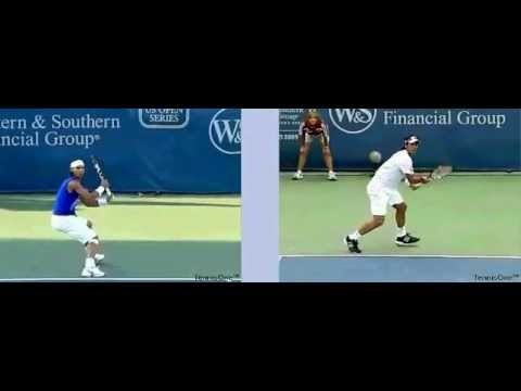 Video_ Tennis_ Technique Federer Djokovich Nadal… Serve Forehand Backhand Return Top Spin Slice