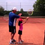 Tennis Lesson – teaching the slice serve (to a 7 year old kid)