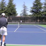 Tennis Forehand Slice Groundstroke Sets Up The Approach