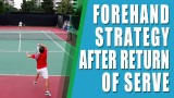 FOREHAND LESSON |FOREHAND STRATEGY AFTER RETURN OF SERVE |