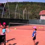 Tennis Lesson for Intermediate Level – no. 18 – teaching kids tennis (the serve)