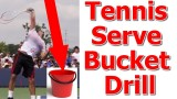 Roger Federer Serve Lesson – Bucket Toss Drill (Top Speed Tennis)