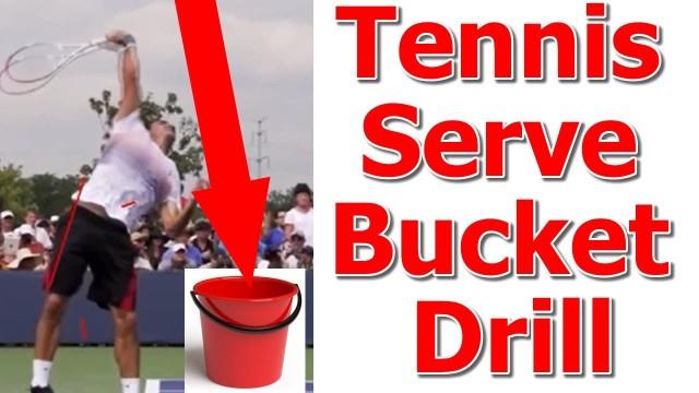 Roger Federer Serve Lesson – Bucket Toss Drill (Top Speed Tennis)