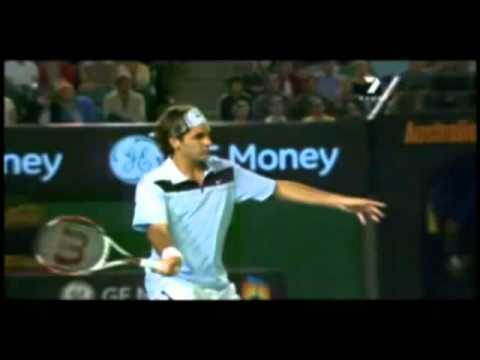 Roger Federer Slow Motion   Serve, Forehand, Backhand
