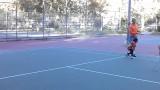 Leilah Tennis Backhand Run,Stop Hit