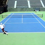 Tennis: Slice cross court passing shot on the run