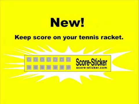 Tennis Tip:  Keep score on your tennis racket