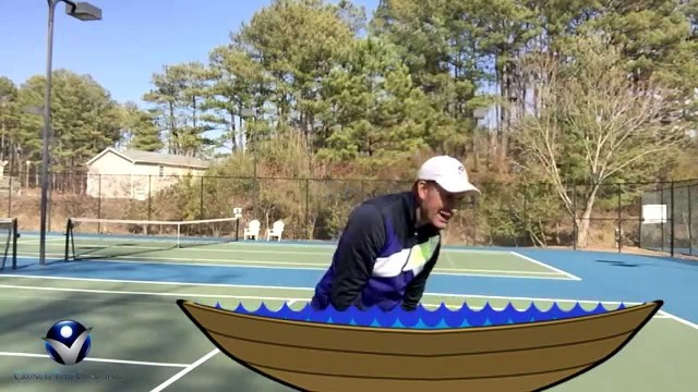 Forehand Tennis Lesson: Hit Heavy High Balls with my Boat Tip