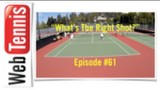 "Tennis Doubles Strategy – ""What's The Right Shot?' Episode #61"